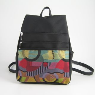 Medium Side Entry Backpack Purse of Fabric and Nylon from Maple ...